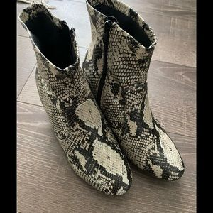 Faux Snake booties